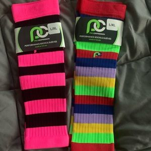 NWT Pro Compression calf sleeves L/XL